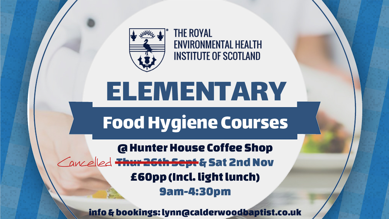 Food Hygiene Course Poster can